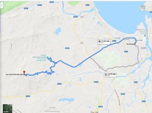 Hướng dẫn đường đi Bà Nà Hill từ trung tâm Đà Nẵng: Kinh nghiệm du lịch Bà Nà Hill