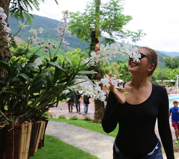 Kinh nghiệm du lịch Núi Thần Tài tự túc: Đường hoa phong lan ở Núi Thần Tài