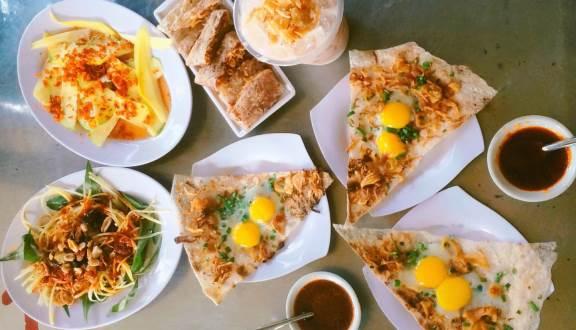 Bánh tráng kẹp Dì Hoa/ địa chỉ ăn bánh tráng kẹp ngon ở Đà Nẵng