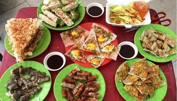 Bánh tráng kẹp Dì Hoàng/ quán bánh tráng kẹp ngon ở Đà Nẵng