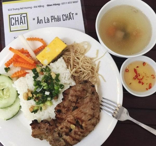 Cơm tấm chất - Trưng Nữ Vương/ quán cơm tấm có ship ở Đà Nẵng