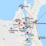 Bản đồ du lịch Đà Nẵng ở trung tâm thành phố: Bản đồ các địa điểm du lịch ở Đà Nẵng
