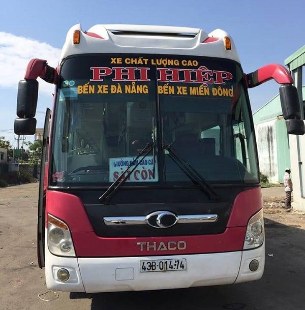 Điện thoại, giá vé các hãng xe khách Sài Gòn Đà Nẵng mới nhất. Nhà xe Phi Hiệp