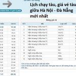 Giá vé tàu Hà Nội Đà Nẵng, lịch chạy tàu Đà Nẵng - Hà Nội mới nhất