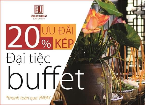 Khuyến mại giảm giá nhà hàng buffet SOHO Đà Nẵng