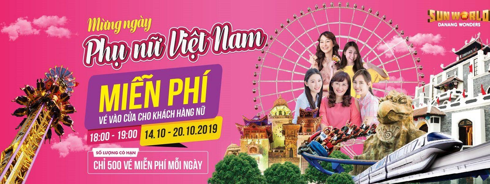 Khuyến mại ở Đà Nẵng dịp 20 - 10 công viên Châu Á Asia Park Đà Nẵng