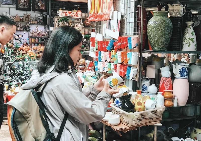 Review địa điểm đi chơi cuối tuần Hà Nội. Du lịch Cuối tuần gần Hà Nội. Làng Gốm Bát Tràng