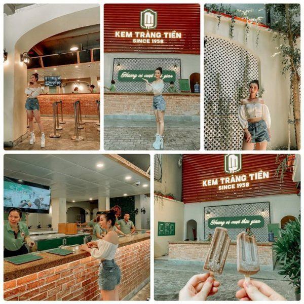 Review kem Tràng Tiền Hà Nội sau khi đổi mới, rất nhiều góc chụp ảnh đẹp trong cửa hàng kem Tràng Tiền