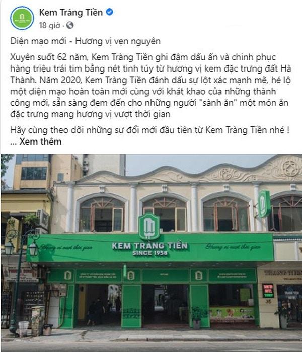 Review kem Tràng Tiền Hà Nội, thông tin về việc kem Tràng Tiền đổi mới diện mạo