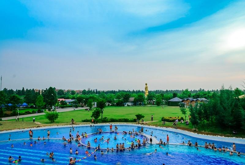 Kinh nghiệm đi khu sinh thái Đan Phượng, bể bơi ở khu sinh thái Phoenix Garden Đan Phượng