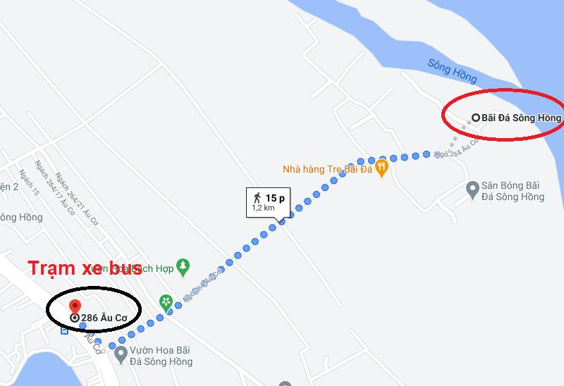 Kinh nghiệm đi bãi đá sông Hồng, xe bus đi bãi đá sông Hồng