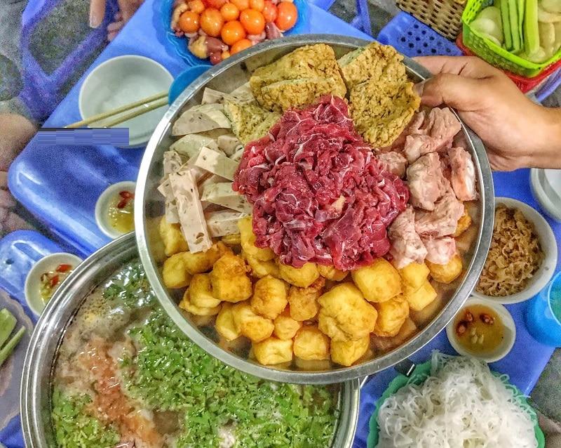 Quán lẩu ngon Hà Nội, quán lẩu Nguyệt ở ngõ 105 Nguyễn Du