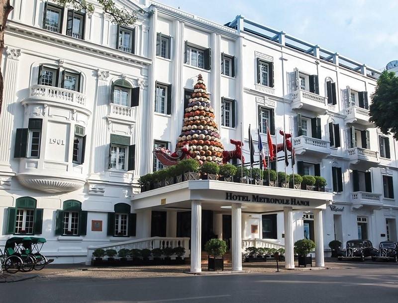 Giáng sinh ở Hà Nội nên đi đâu? Địa điểm du lịch hà Nội dịp Giáng sinh. Khách sạn Metropole