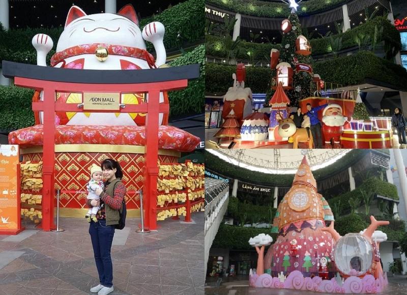 Giáng sinh ở Hà Nội nên đi đâu? Địa điểm tham quan ở Hà Nội dịp Giáng sinh. Aeon Mall Long Biên