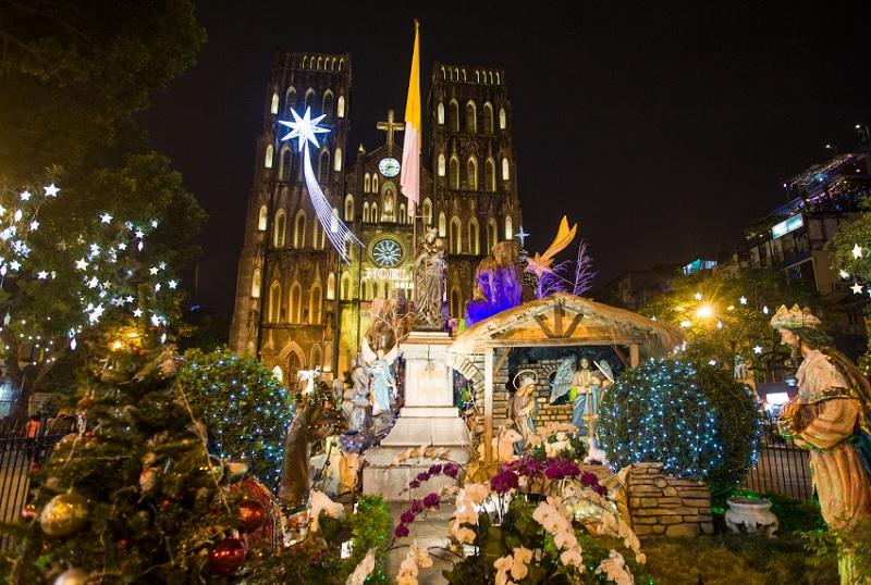 Giáng sinh ở Hà Nội nên đi đâu? Chụp ảnh giáng sinh ở Hà Nội. Nhà thờ lớn Hà Nội