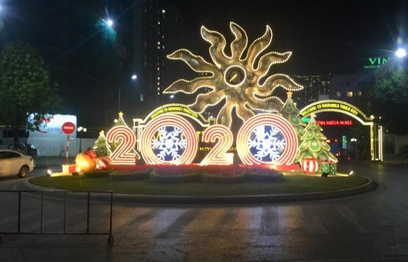 Giáng sinh ở Hà Nội nên đi đâu? Tiệc giáng sinh ở Hà Nội. Trung tâm thương mại Times City
