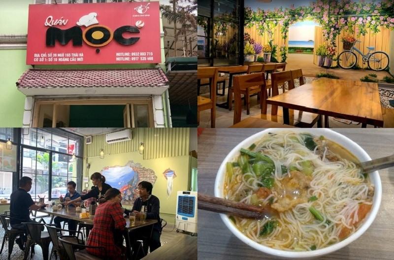 Các quán ăn ngon ở quận Đống Đa Hà Nội. Quán Mộc 2, quán ăn sáng ngon quận Đống Đa