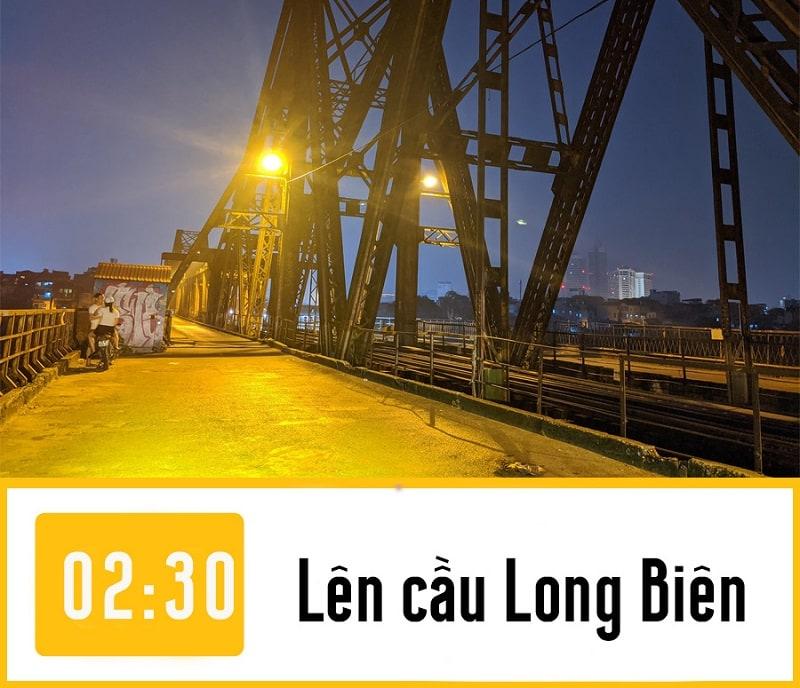 Lịch trình phượt đêm Hà Nội, hóng gió trên cầu Long Biên