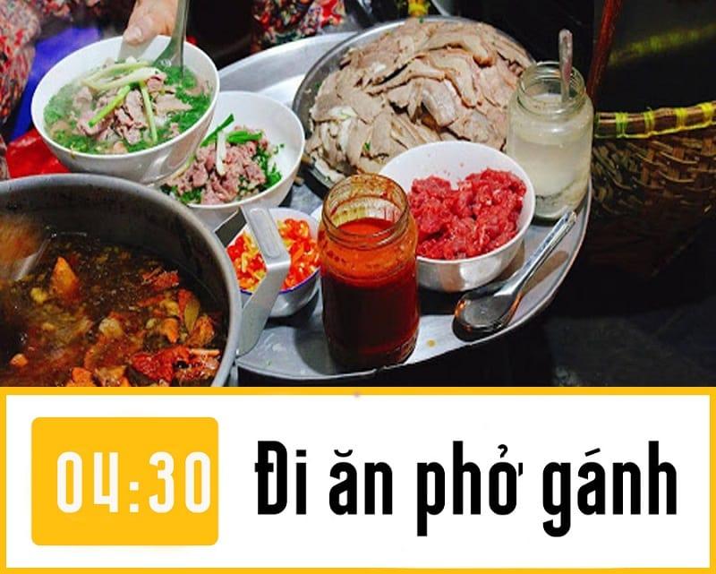 Phượt đêm Hà Nội ăn gì, phở gánh Hà Nội