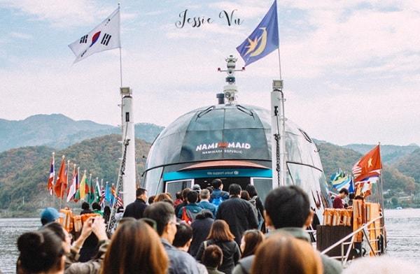 Cách di chuyển từ Busan đến đảo Nami. Di chuyển từ Busan đến Nami tự túc