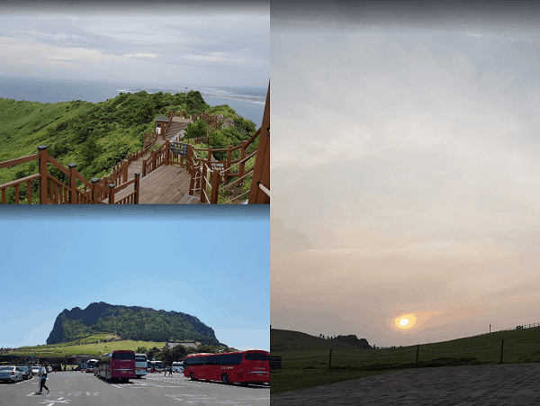 Danh lam thắng cảnh đẹp, nổi tiếng ở Hàn Quốc. Địa điểm du lịch ở Hàn Quốc. Seongsan Sunrise Peak