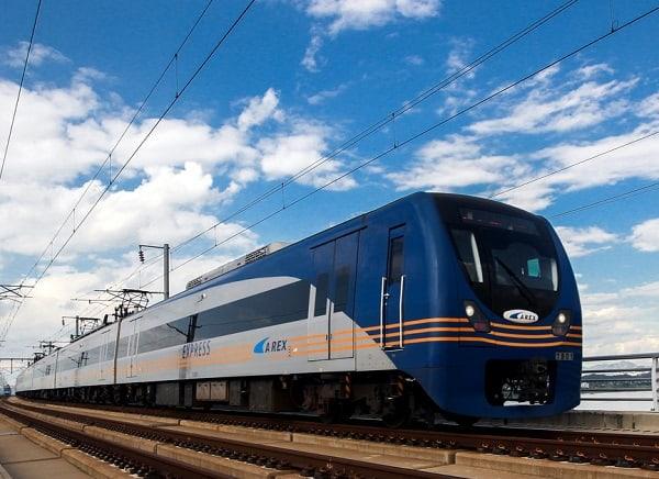 Phương tiện di chuyển từ sân bay Incheon vào Seoul, tàu tốc hành AREX