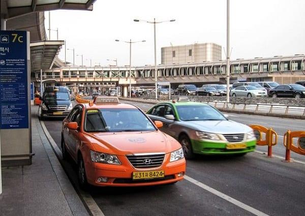 Đi taxi từ sân bay Incheon đến trung tâm Seoul