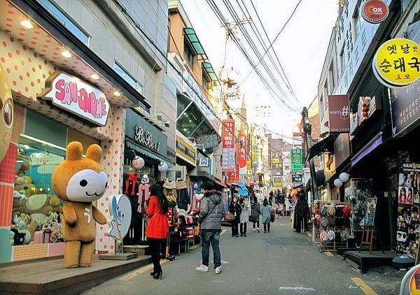 Địa chỉ mua sắm ở Seoul, Hàn Quốc, Phố mua sắm Ewha Woman's University