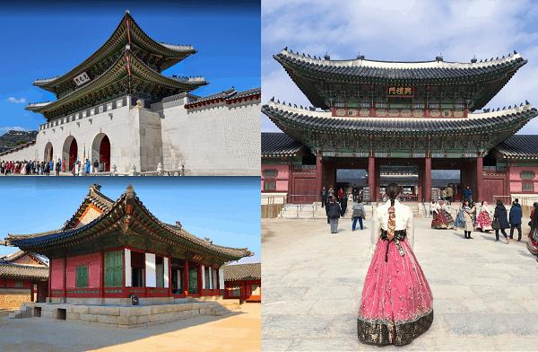 Địa điểm du lịch Hàn Quốc đẹp và nổi tiếng nhất. Nên đi đâu chơi, tham quan ở Hàn Quốc? Cung điện Gyeongbokgung