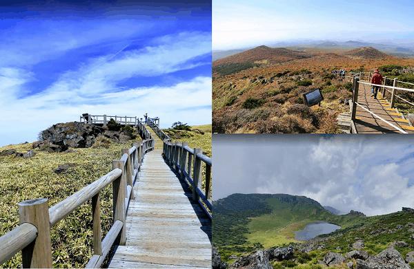 Địa điểm du lịch Hàn Quốc mùa xuân, hè. thu. Du lịch Hàn Quốc mùa thu nên đi đâu chơi? núi Hallasan