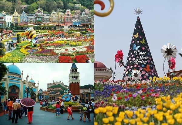 Địa điểm du lịch Hàn Quốc xuân hạ thu đông. Du lịch Hàn Quốc nên đi đâu? Công viên giải trí Everland