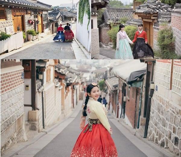 Địa điểm du lịch hấp dẫn ở Hàn Quốc. Du lịch Hàn Quốc nên đi đâu chơi? Làng Bukchon Hanok