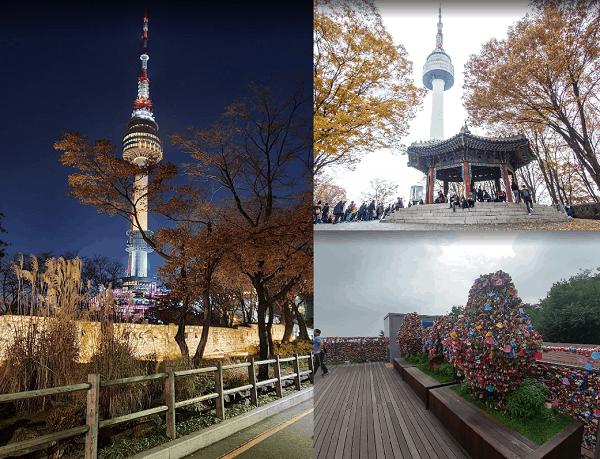 Địa điểm du lịch ở Hàn Quốc. Đi đâu chơi, tham quan ở Hàn Quốc? Tháp N Seoul Tower
