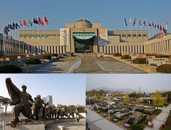 Địa điểm tham quan miễn phí ở Hàn Quốc. Nên đi đâu chơi, tham quan ở Hàn Quốc? Bảo tàng chiến tranh War Memorial of Korea