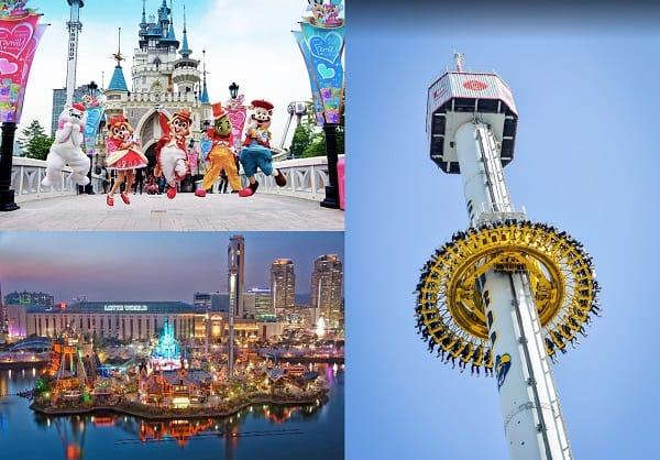 Khu vui chơi giải trí hấp dẫn, nổi tiếng ở Seoul. Địa điểm du lịch ở Hàn Quốc. Lotte World