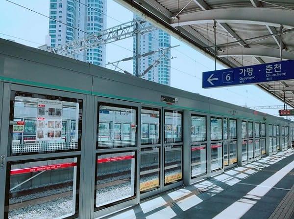 Đi từ Seoul đến đảo Nami, đi tàu đến ga Gapyeong