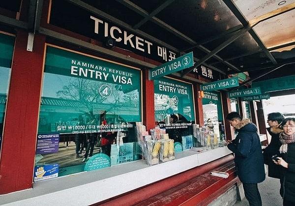 Đi từ Seoul đến đảo Nami, Quầy bán vé đi ra đảo Nami