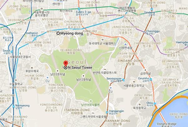 Kinh nghiệm đi tháp Namsan, địa chỉ tháp Namsan, tháp N Seoul