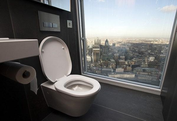Kinh nghiệm than quan tháp N Seoul, trải nghiệm nhà vệ sinh Sky Restroom