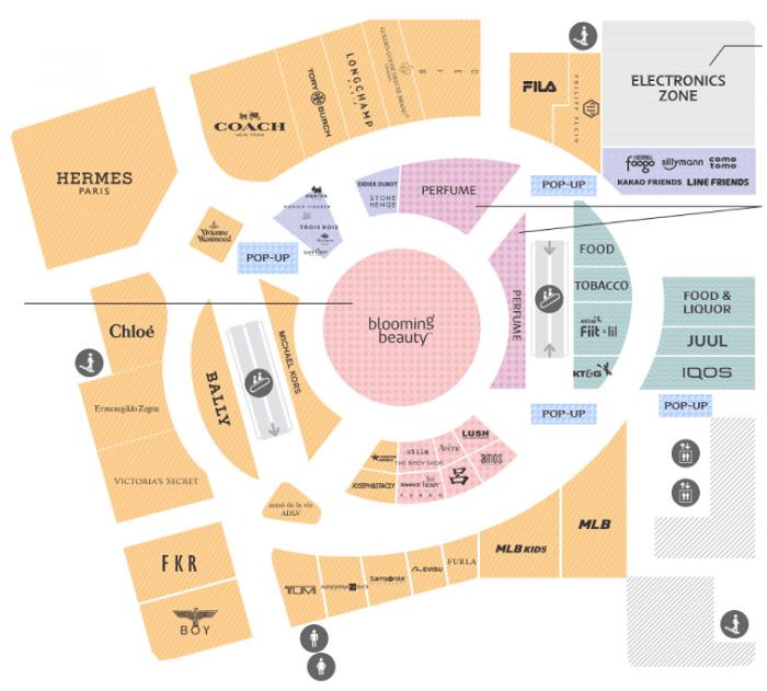 Lotte Duty Free Hàn Quốc có gì hấp dẫn, các gian hàng ở tầng 9