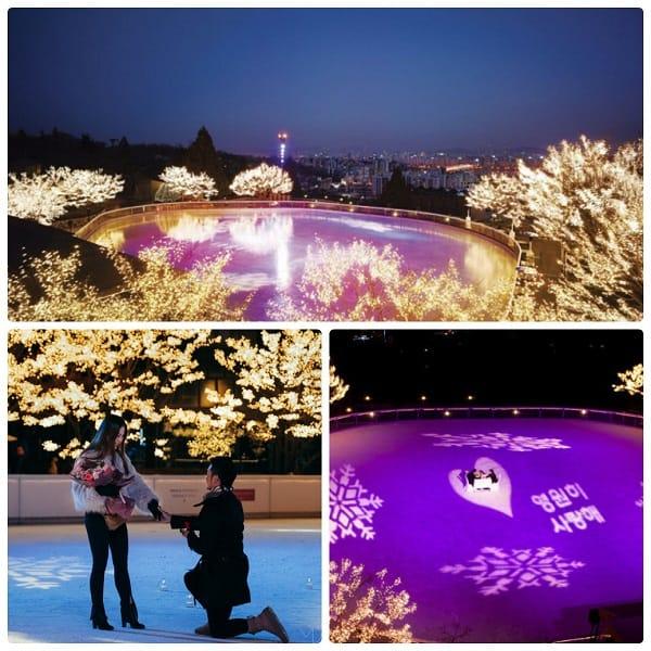 Du lịch Seoul, Hàn Quốc dịp Valentine nên đi đâu? Sân trượt băng Grand Hyatt Seoul