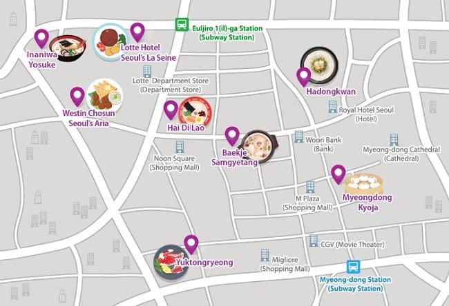 Quán ăn ngon nổi tiếng ở Myeong-dong