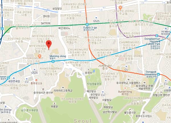 Địa chỉ ăn uống ở Myeong-dong