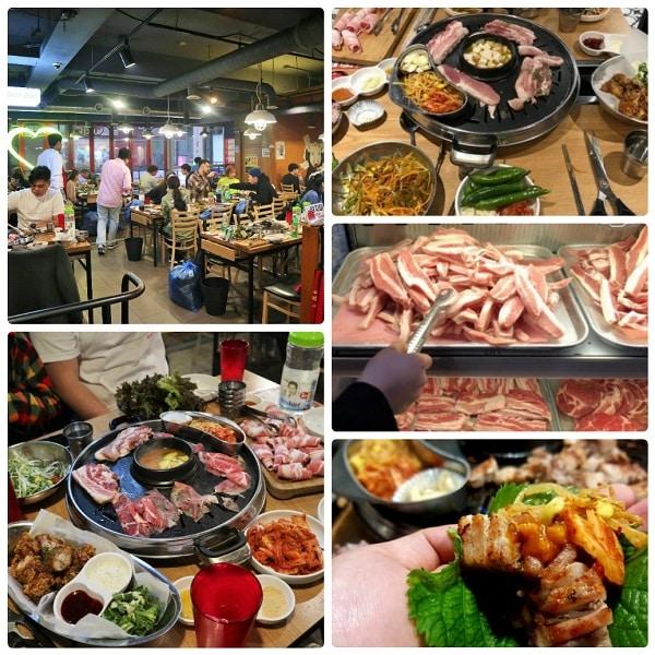 Quán buffet thịt nướng ở Seoul, ăn buffet thịt nướng ở Mango Plate Korean BBQ