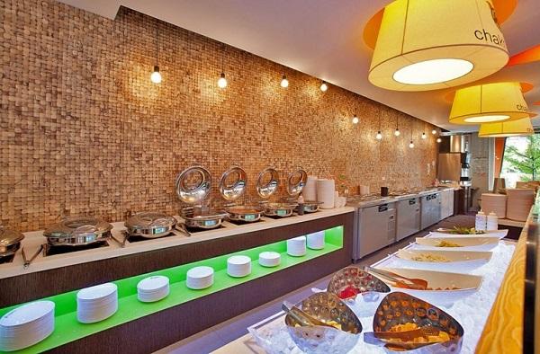 Quán buffet thịt nướng ở Seoul, quầy tráng miệng của Chakhan Dwae-ji