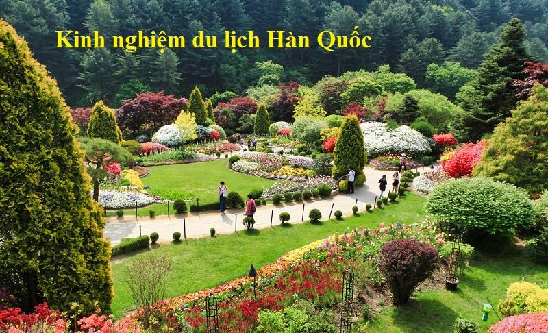 Kinh nghiệm du lịch Hàn Quốc giá rẻ. Garden of Morning Calm
