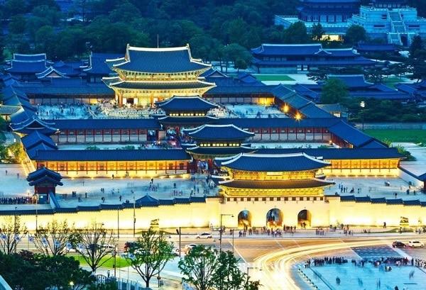 Các cung điện ở Seoul Hàn Quốc, toàn cảnh cung điện Gyeongbokgung