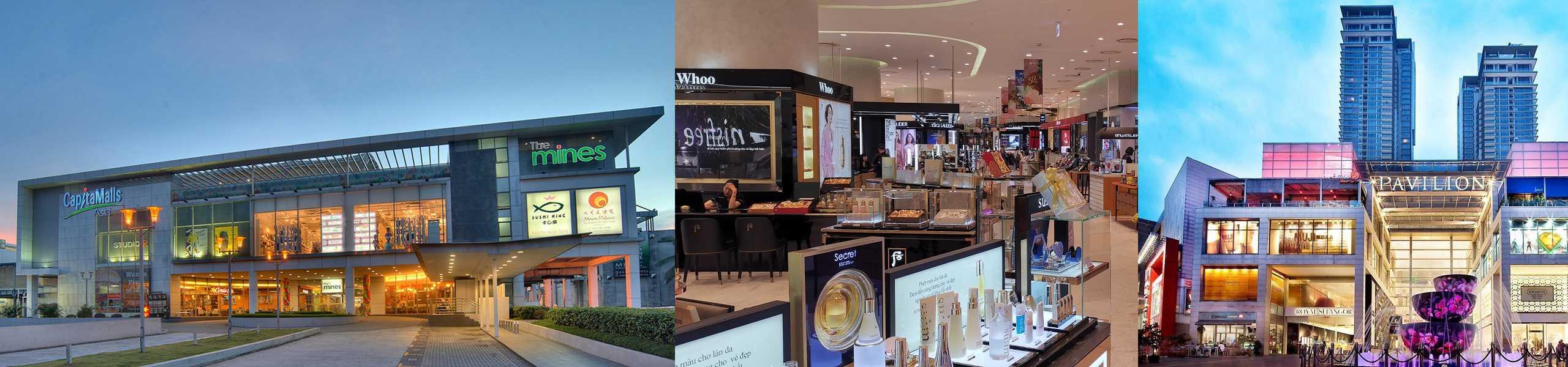 Các trung tâm thương mại lớn ở Malaysia.