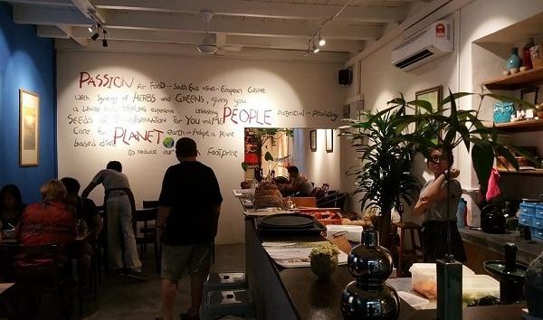 Seeds Garden Bistro - quán ăn chay ở Malacca gần đền Cheng Hoon Teng