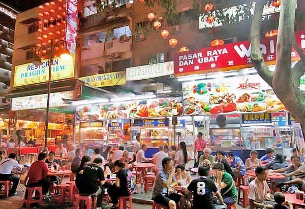 Địa điểm check in đẹp ở Kuala Lumpur, khu ẩm thực Jalan Alor